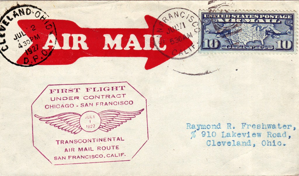 First_Transcontinental_US_Air_Mail_under_Contract_1927