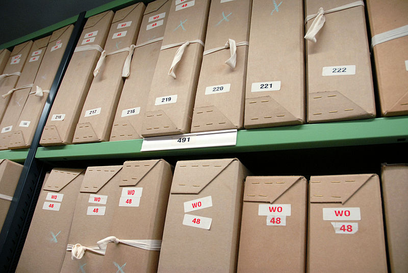 Boxes_of_documents_on_repository_shelving_at_The_National_Archives